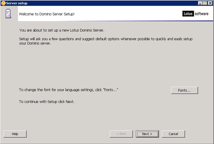 domalab.com configure Domino setup wizard