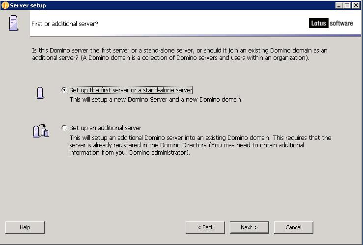 domalab.com configure Domino first server