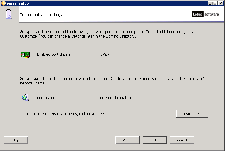 domalab.com configure Domino network settings
