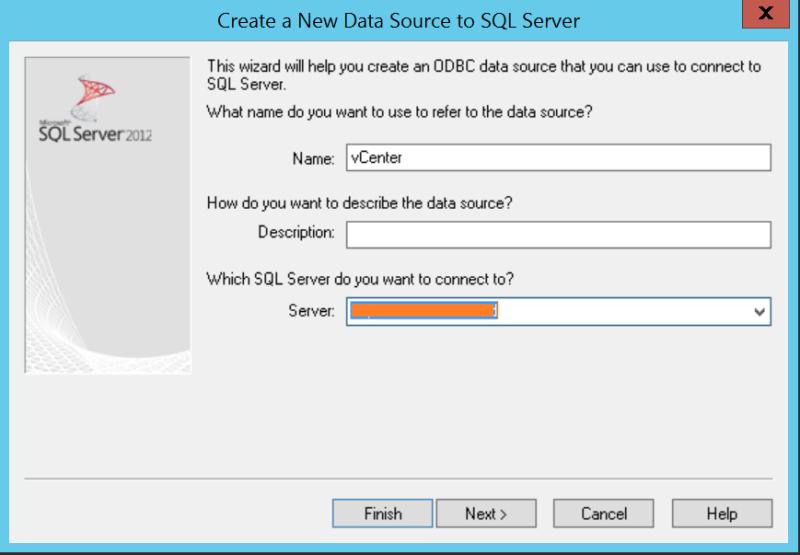 domalab.com VMware vCenter Deploy Database name