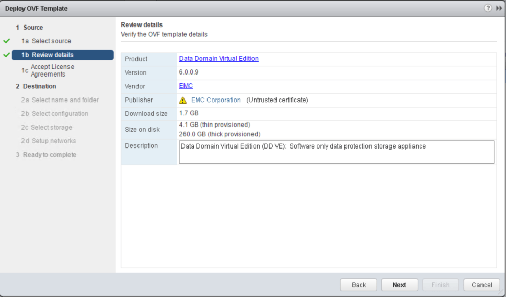 Data Domain Virtual Edition Install And Configuration