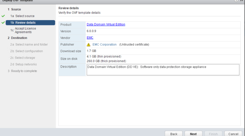 Data Domain Virtual Edition 3.0: Installation and configuration overview