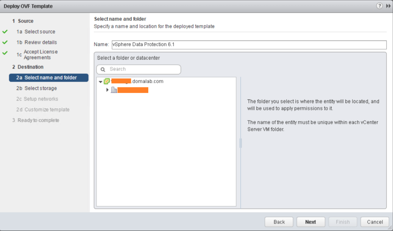 domalab.com VMware VDP install ovf location