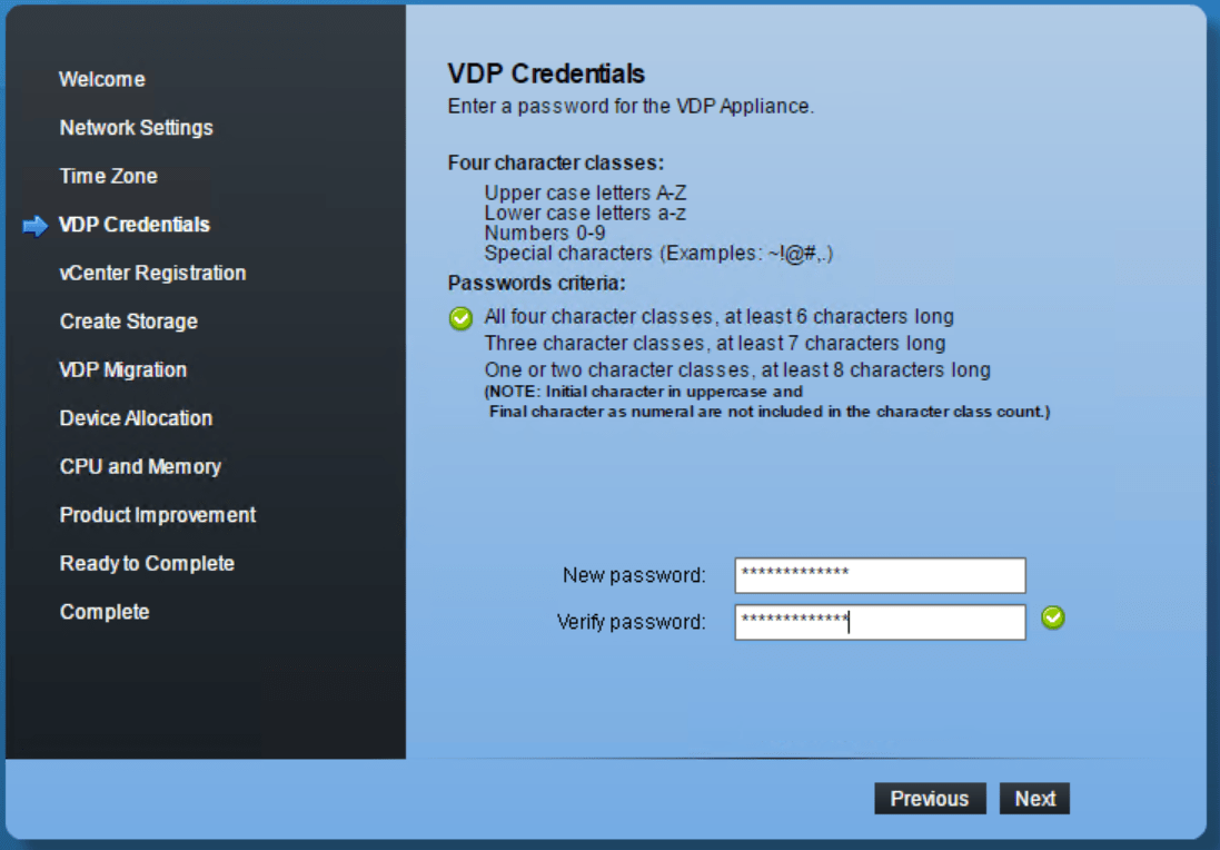 domalab.com VMware VDP configuration credentials