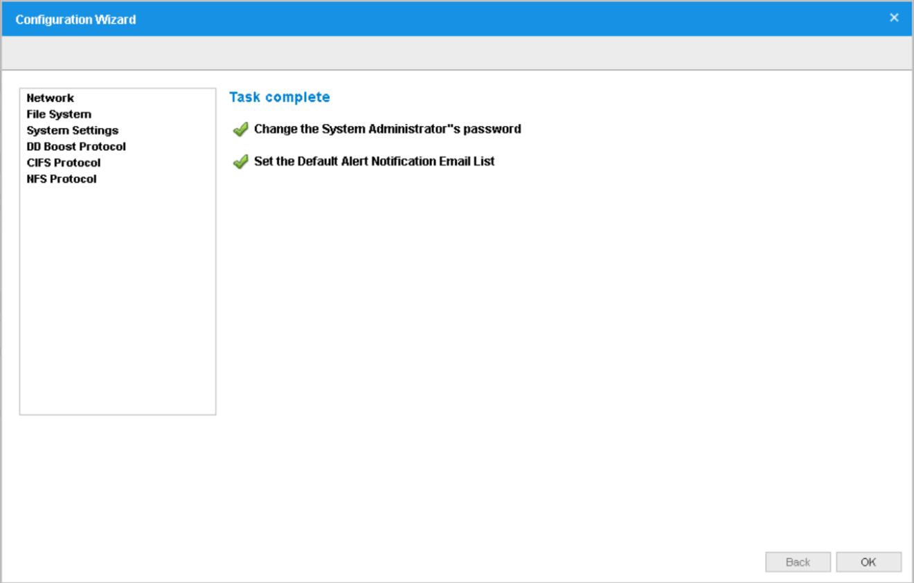 domalab.com Data Domain VE install task complete