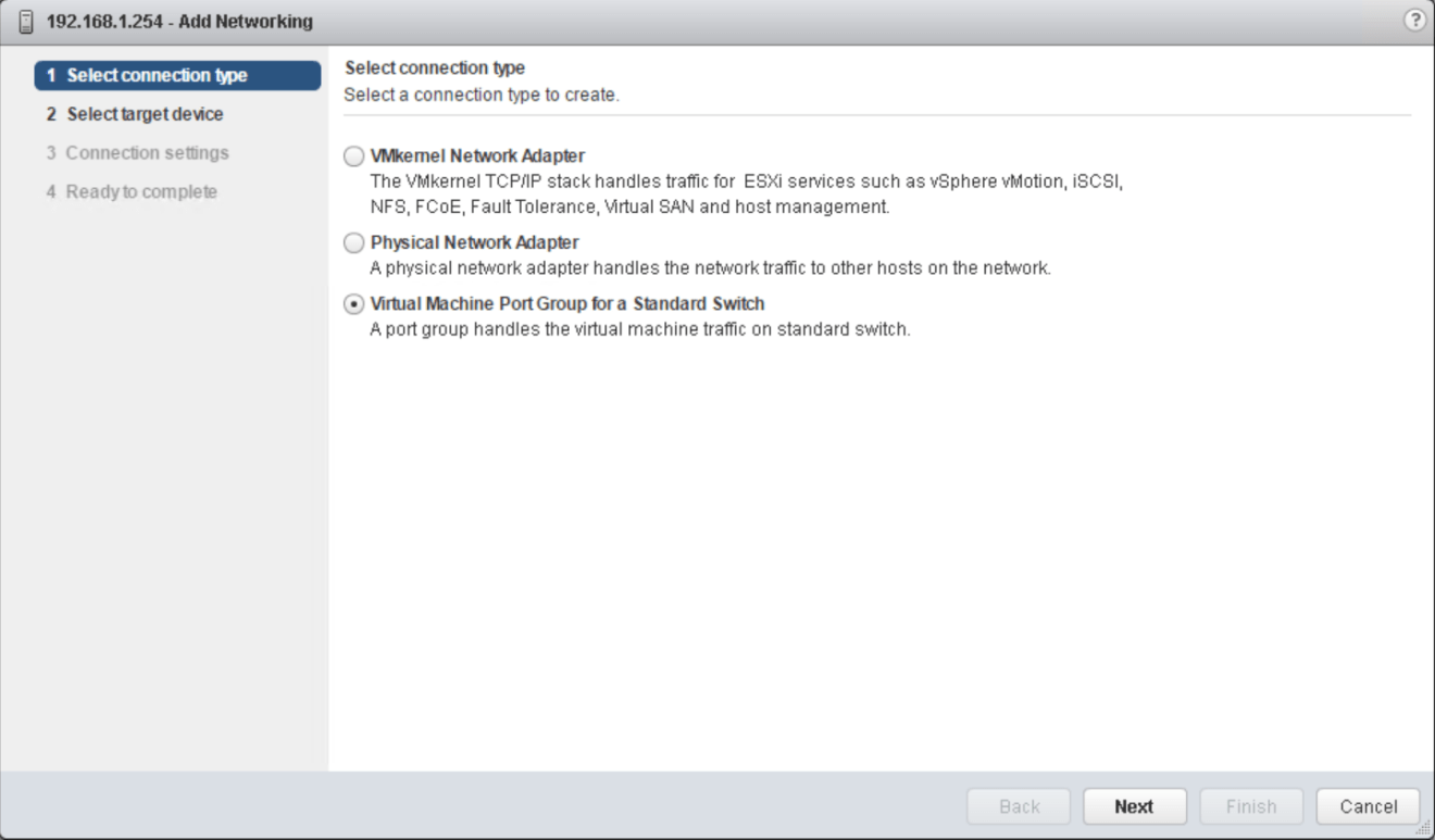 domalab.com vSphere Standard Switches add port group