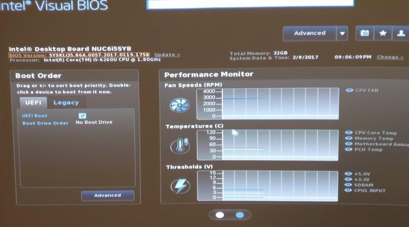 Intel Nuc Bios Update To Latest Version 187 Domalab