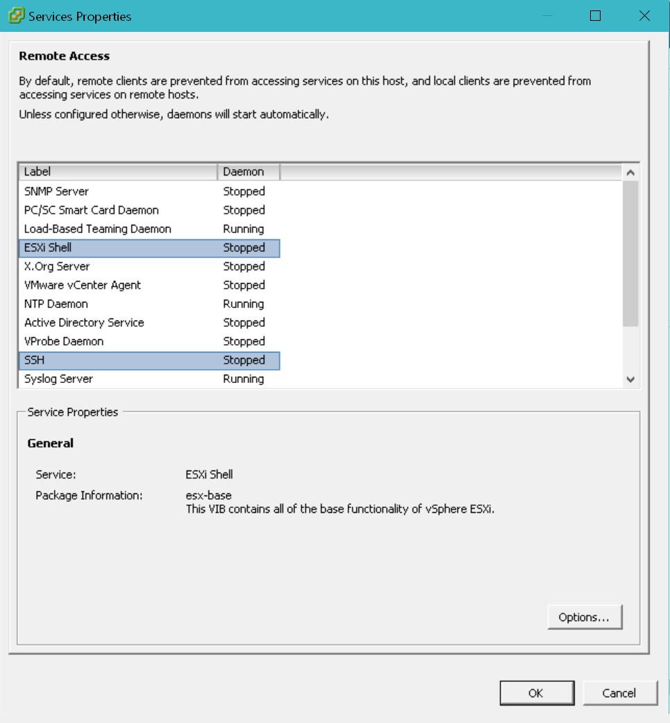 domalab.com Intel NUC ESXi SSH enable