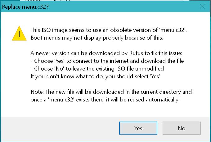 domalab.com Intel NUC ESXi media rufus menu
