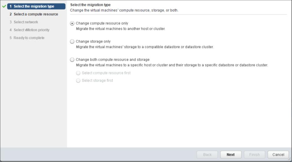 VMware vSphere: Migrating VM with vMotion » domalab