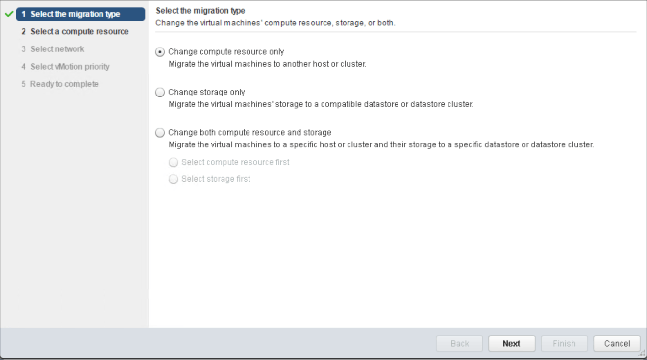 domalab.com VMware vMotion migration type