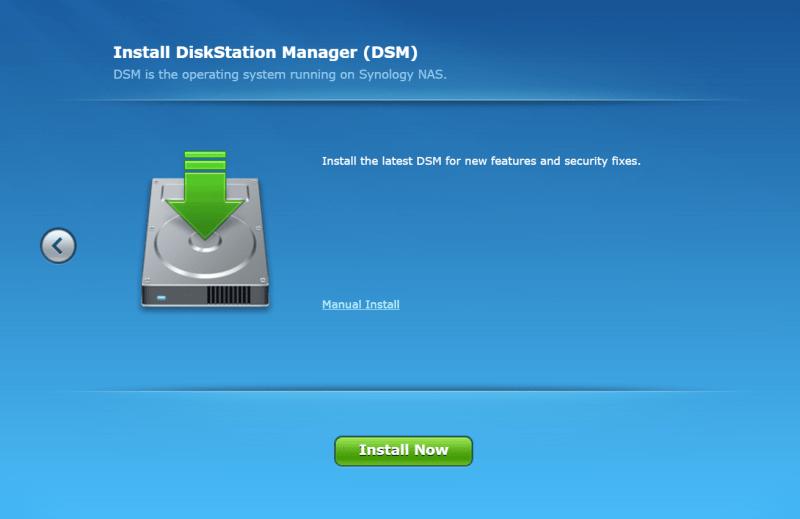 Synology NAS DSM install