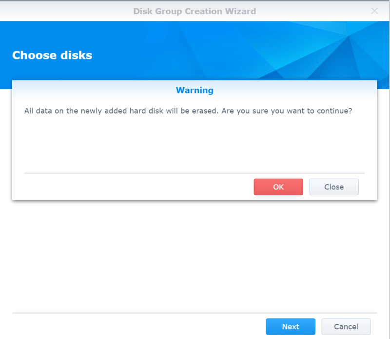 Synology NAS Disk Group Format