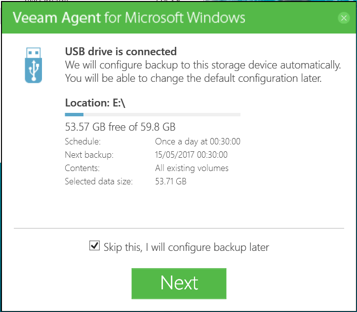 domalab.com Veeam Agents usb drive