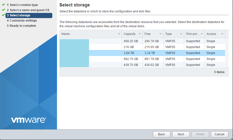 domalab.com Install ClearOS select storage