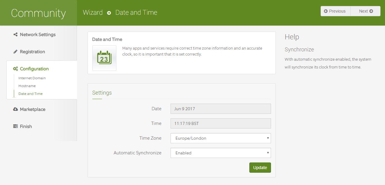 domalab.com Configure ClearOS timezone settings