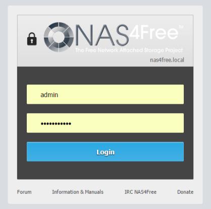 domalab.com Configure NAS4Free WebGui login