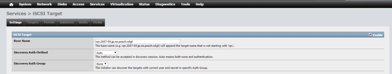 domalab.com NAS4Free iSCSI service enable
