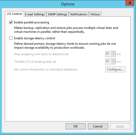 Veeam Backup I/O Control