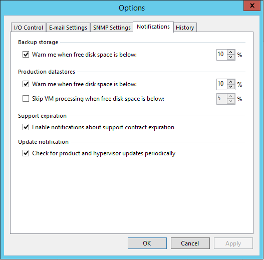 Veeam Backup Notifications