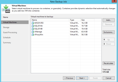 Overview of Veeam Backup job configuration