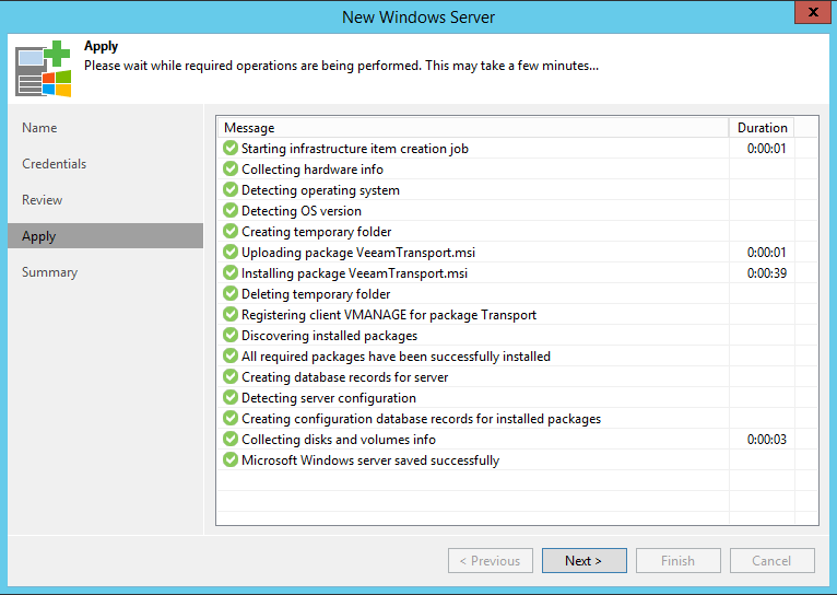 Veeam Backup Proxy configuration