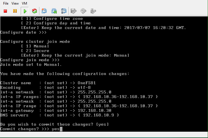 Isilon OneFS confirm cluster configuration