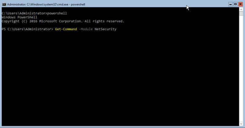 Hyper-V 2016 Configuration Powershell Firewall