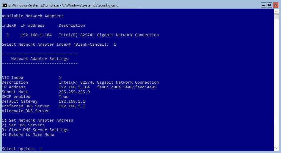 Hyper-V 2016 Configuration DHCP