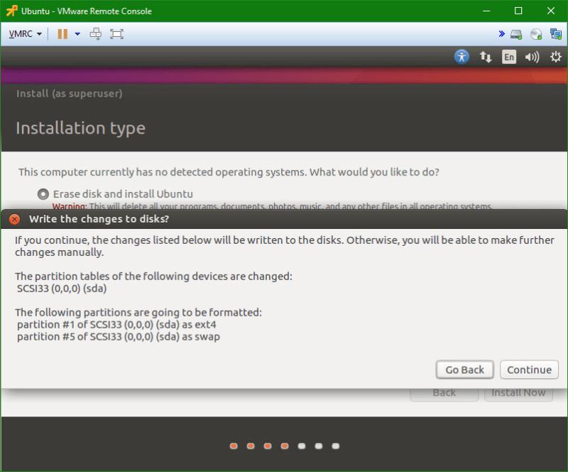 Linux Ubuntu vm disk