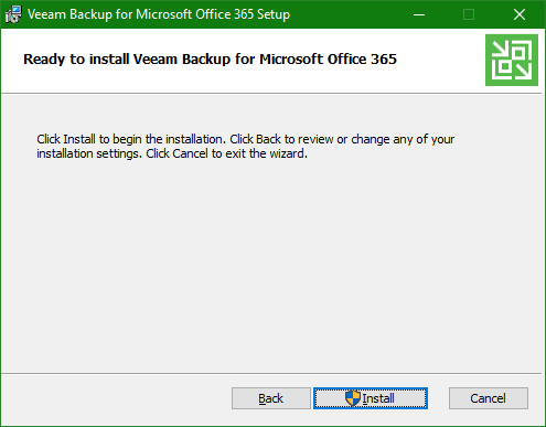 Backup Microsoft Office 365 install