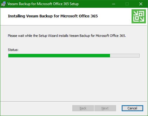 Backup Microsoft Office 365 install status