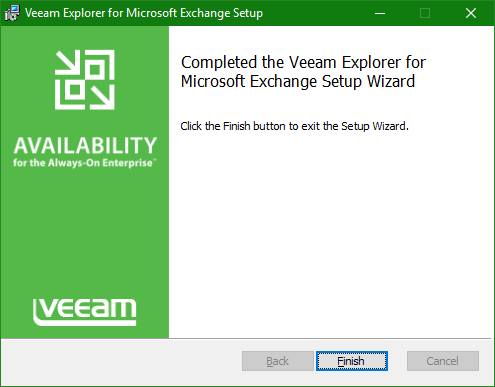 Backup Microsoft Office 365 Explorer summary