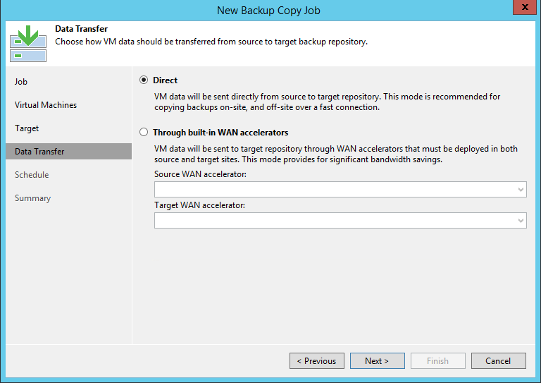 Veeam Backup Copy job Data transfer