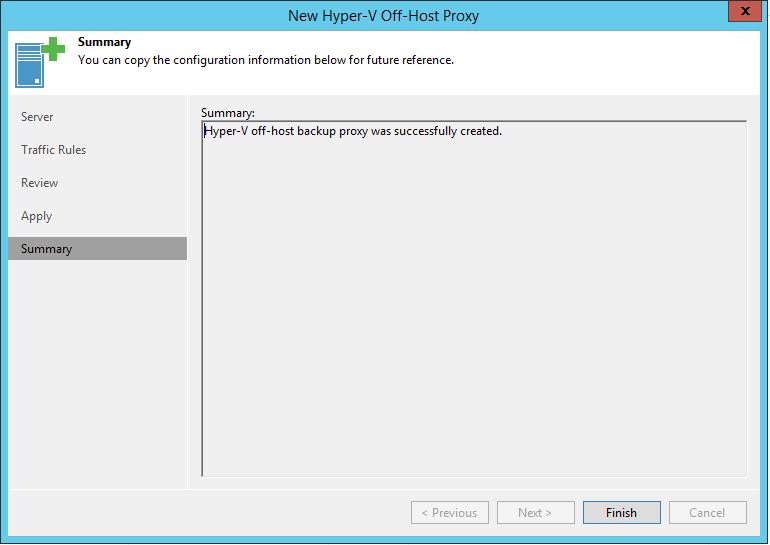 new Hyper-V Off-Host summary