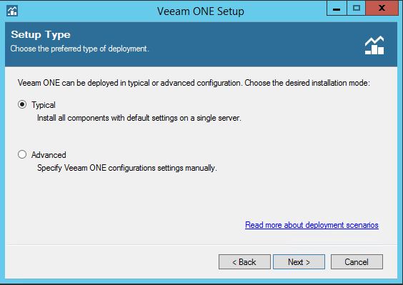 Veeam One install type