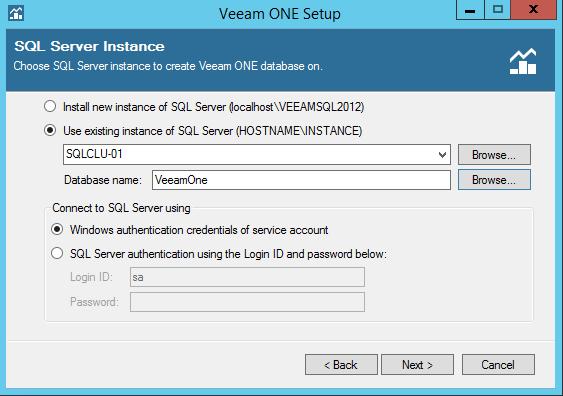Veeam One Database