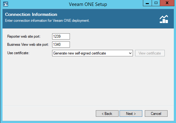 Veeam One network ports