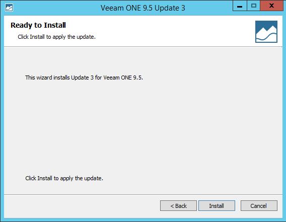 Upgrade Veeam One Install