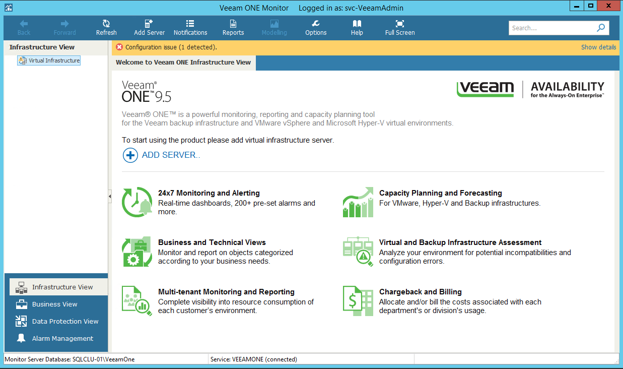 First Steps For Veeam One Configuration 187 Domalab