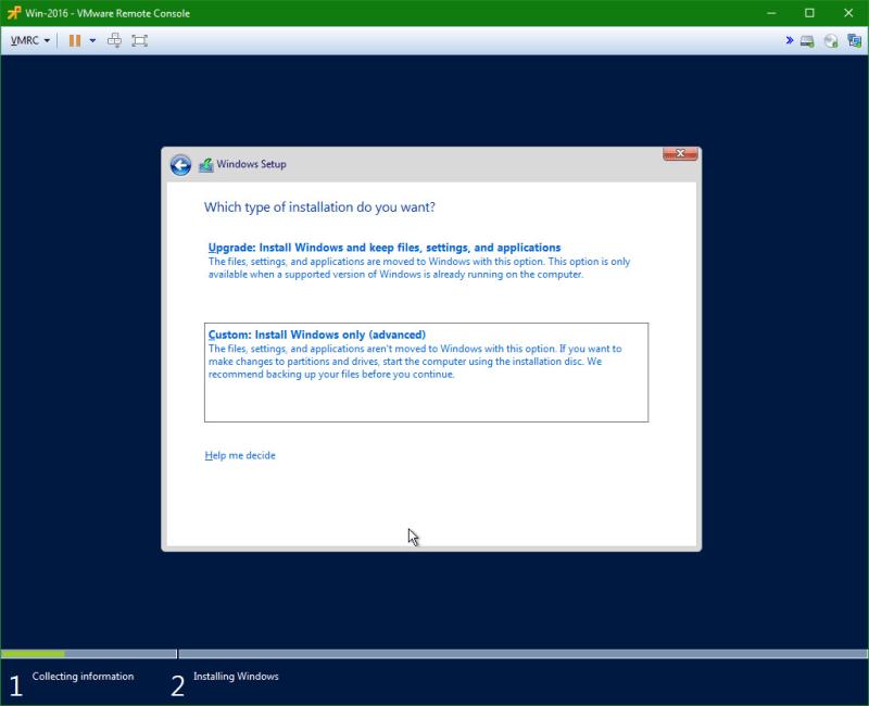domalab.com Install Windows Server 2016 custom partition