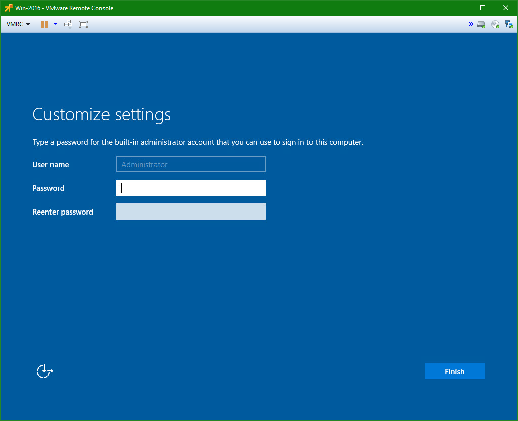 domalab.com Install Windows Server 2016 administrator password