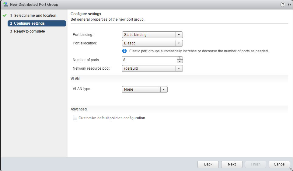 Migrate Storage Port Group settings