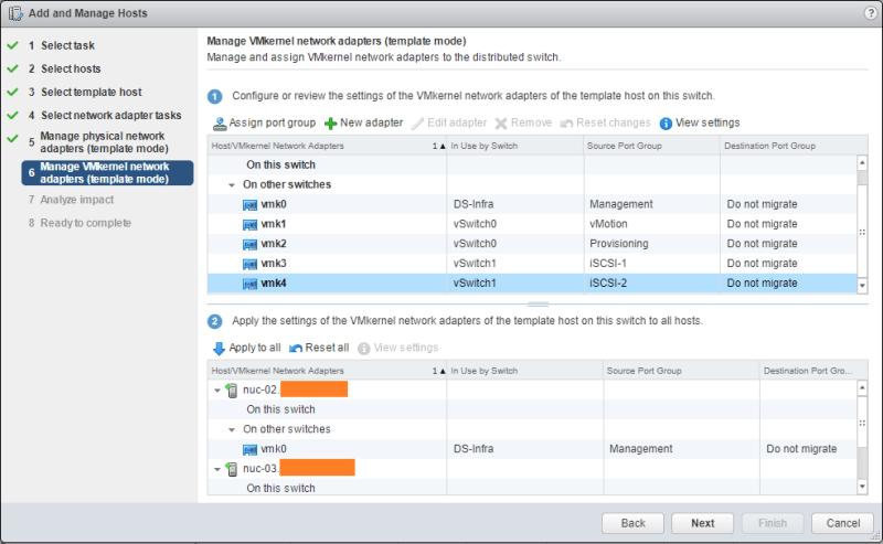 Migrate Storage manage VMkernel