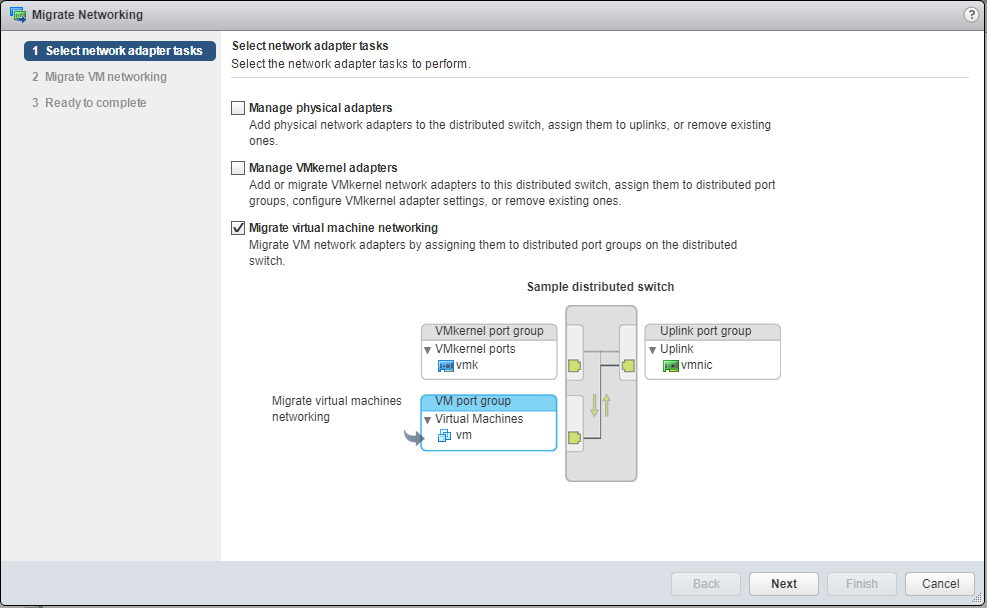 Migrate vCenter to vSphere virtual Distributed Switches » domalab