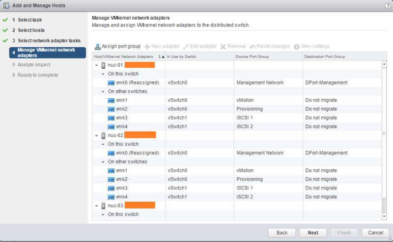 Migrate VMkernel apply settings