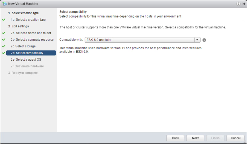 Windows Server 2016 vmware compatibility