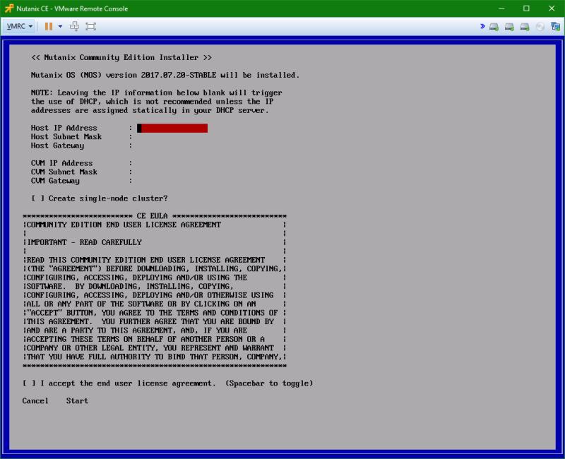 domalab.com Install Nutanix nested VMware network configuration