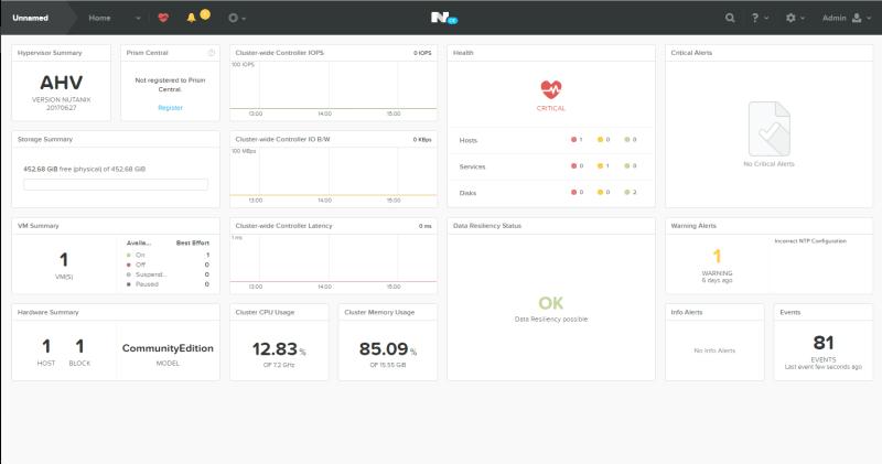 domalab.com Configure Nutanix Prism console