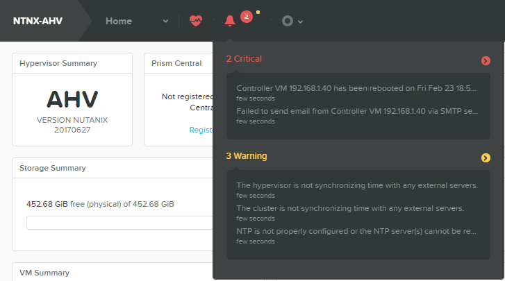 domalab.com Configure Nutanix Time Server Alerts